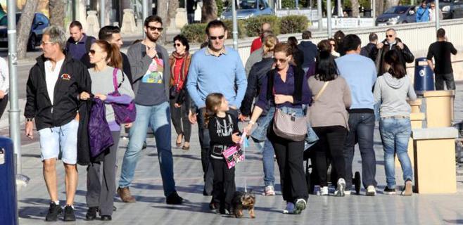 La población balear creció en 2013 hasta los 1,1 millones de habitantes