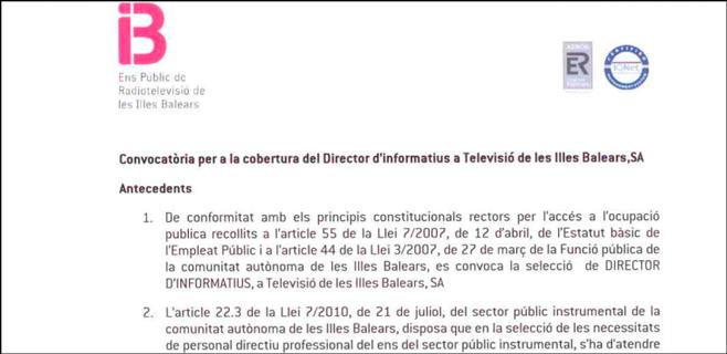 IB3 abre el concurso para sustituir a Juan Mestre al frente de Informativos