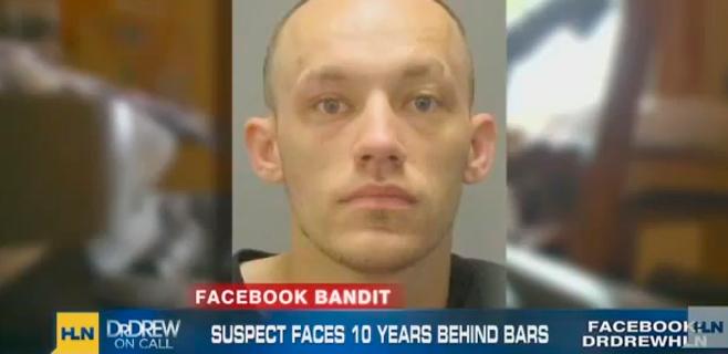 Usa Facebook en la casa que roba y se queda abierto