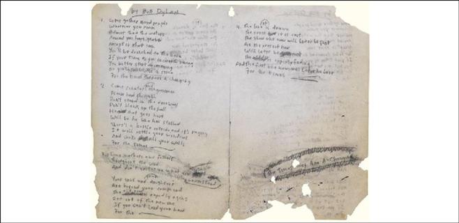 La letra de 'Like a Rolling Stone', vendida por 2 millones
