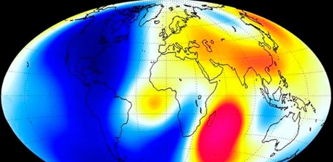 El norte magnético se desplaza hacia Siberia