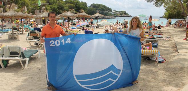 3 banderas azules ondean en las playas de Santanyí