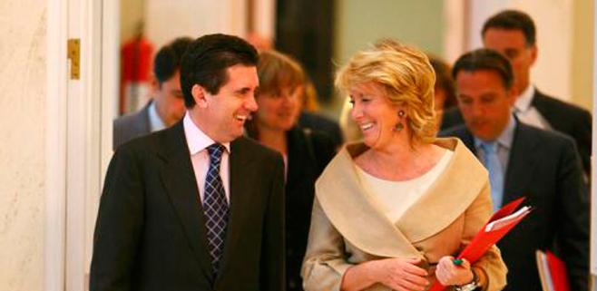 Esperanza Aguirre define a Jaume Matas como una persona