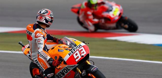 Lorenzo saldrá 5º en Alemania con otra pole de Márquez