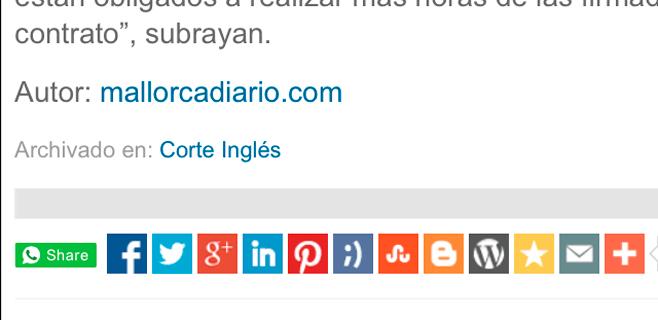 mallorcadiario.com ya se puede compartir por whatsapp