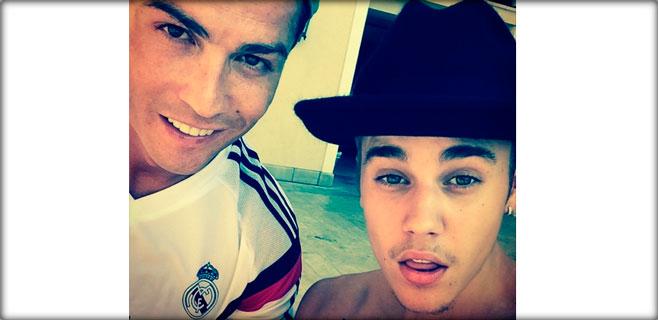 Justin Bieber se fotografía con Cristiano Ronaldo