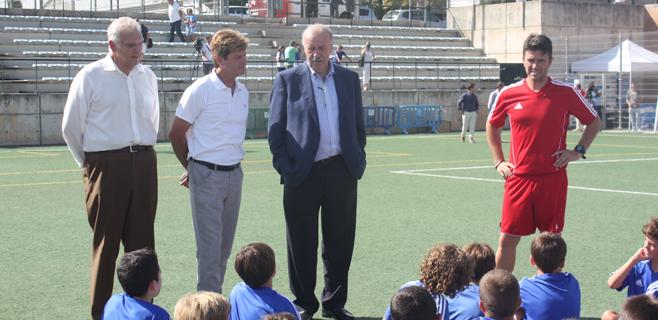 Del Bosque desea suerte al Mallorca, a Nadal y a Soler