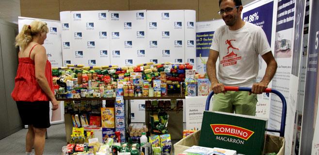 Los empleados de Endesa donan 10.000 kilos de alimentos