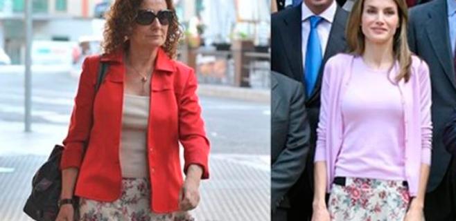 Letizia y su madre, con la misma falda