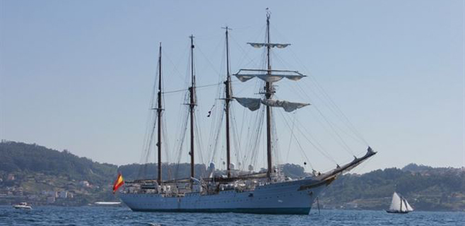 3 detenidos del Juan Sebastián Elcano por tráfico de drogas