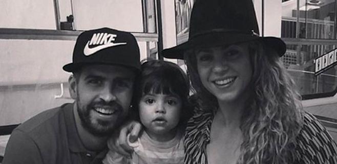 Piqué, Shakira y Milan se montan en el funicular