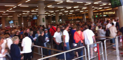 Cancelados  9 vuelos en Palma por la huelga de controladores franceses