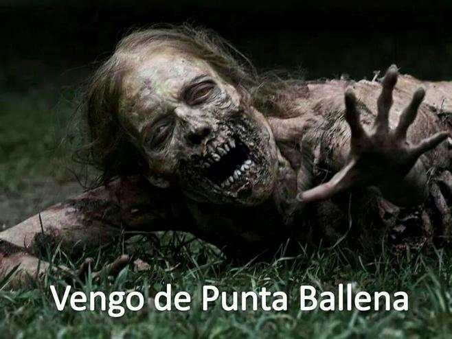 The walking dead en Punta Ballena