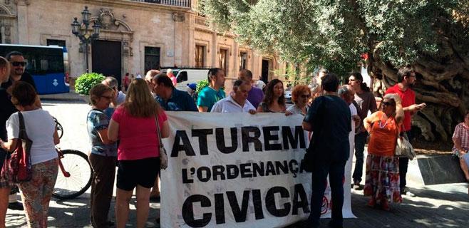 16 entidades presentan un recurso contra la ordenanza cívica de Palma