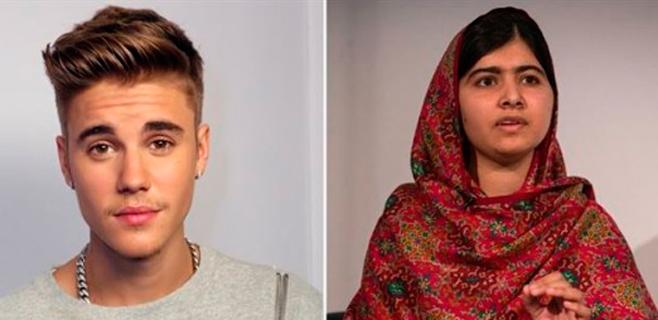 Contacto entre Justin Bieber y Malala