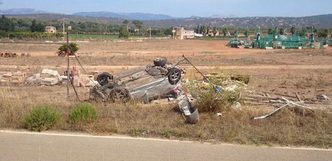 Un herido tras un espectacular accidente en las cuestas de Xorrigo