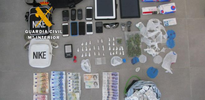 Detenidos 3 hombres por traficar con cocaína y metanfetamina en Magaluf