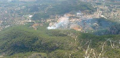 Extinguido el incendio forestal declarado en la Comuna de Bunyola
