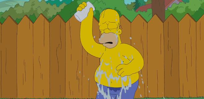 Homer Simpson se une al reto Ice Bucket Challenge