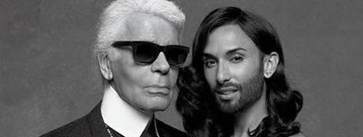 Conchita Wurst conquista a Karl Lagerfeld