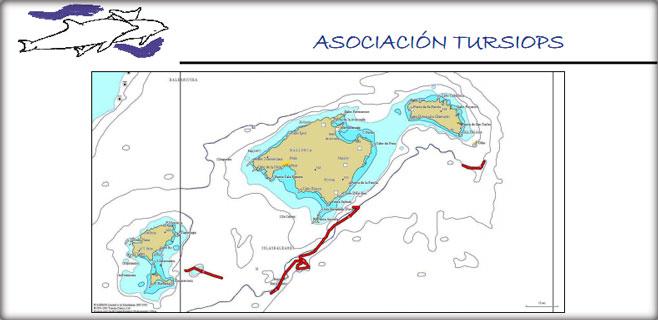 Las prospecciones del año 2013 se llevaron a cabo a 285 km. de Balears