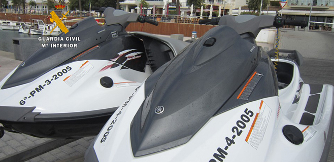 Detenido un hombre en Porto Cristo por falsificar matrículas de motos acuáticas