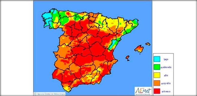 Riesgo extremo de incendios en el norte de Mallorca durante hoy martes