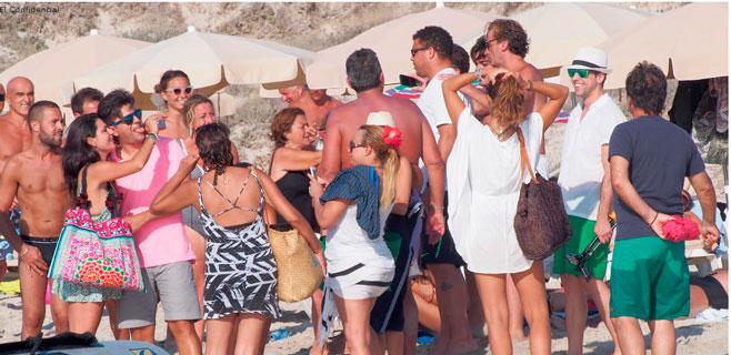 Ronaldo Nazario desata la locura en Formentera