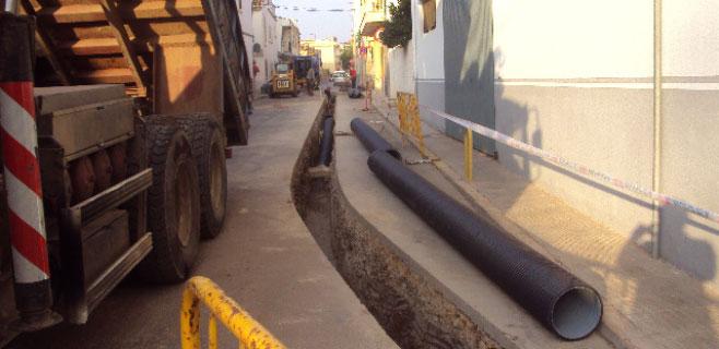 Sa Pobla repara los conductos de agua de la calle Dato
