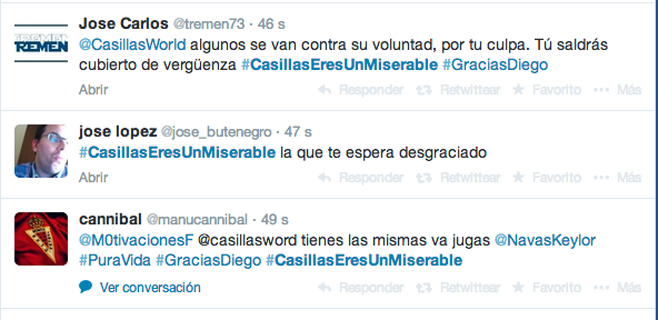 Twitter estalla contra Casillas tras la venta de Diego López