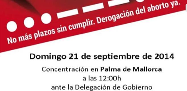Palma acoge este domingo una Marcha por la Vida en Delegación de Gobierno