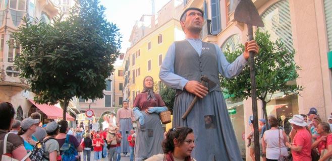 10.000 personas visitan los Gegants de Mallorca