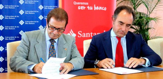 UIB y Banco Santander firman un convenio de colaboración