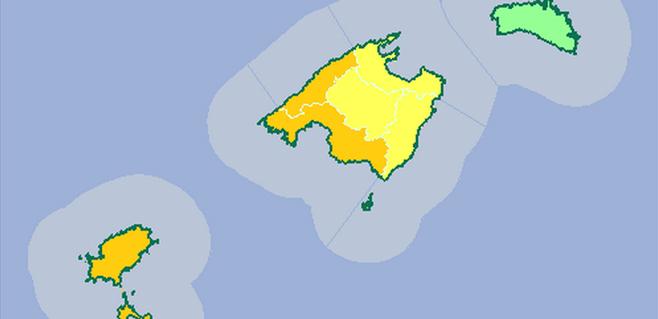 Alerta naranja por lluvias en Mallorca