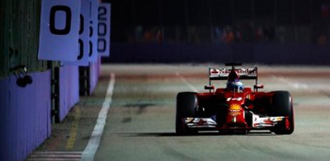 Alonso es cuarto en Singapur
