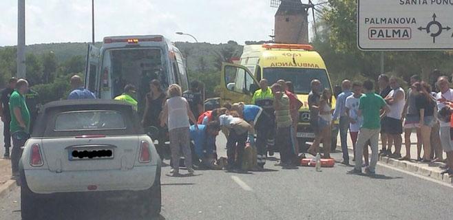 Herida una niña al ser atropellada en el polígono de Son Bugadelles de Calvià