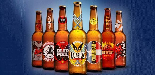 Llegan las cervezas de los superheroes