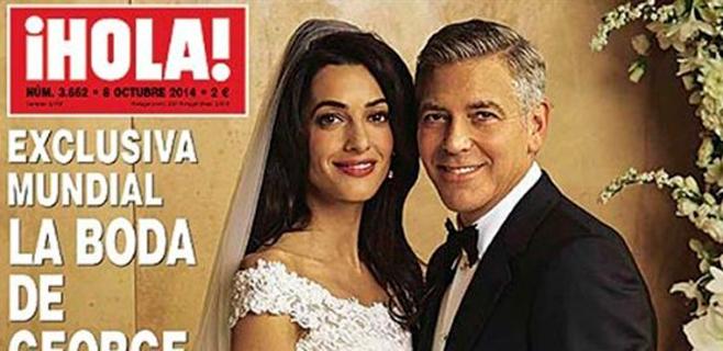 Primera imagen de la boda de Clooney y Amal