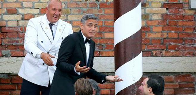 Desfile de famosos en la boda de George Clooney
