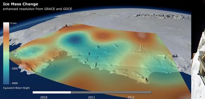 El deshielo está alterando la gravedad terrestre en la Antártida