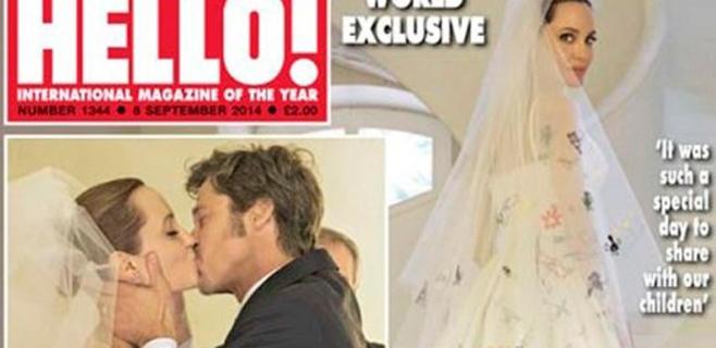 Hello! muestra las fotos de la boda de Angelina y Brad