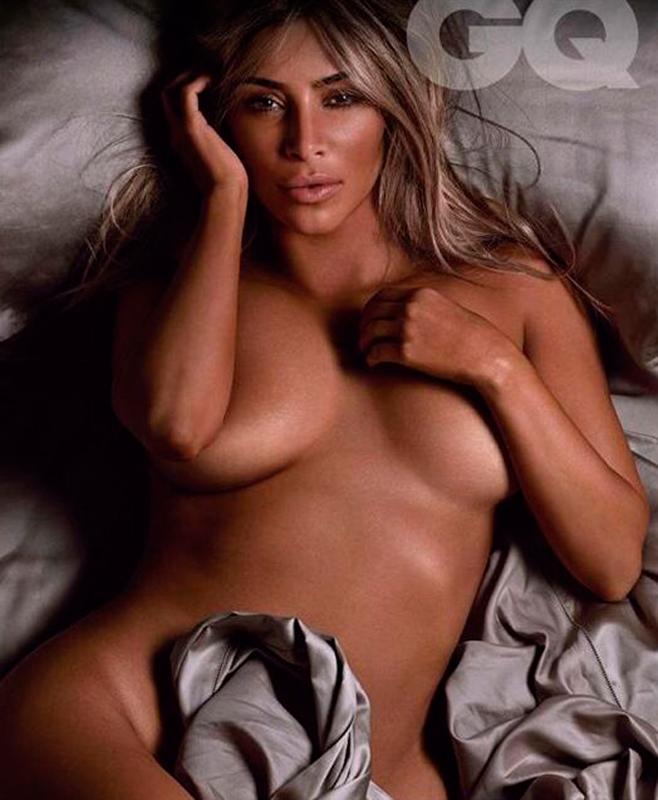Kim Kardashian se desnuda para el GQ británico