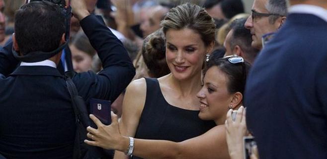 La reina Letizia, una fan de los selfies