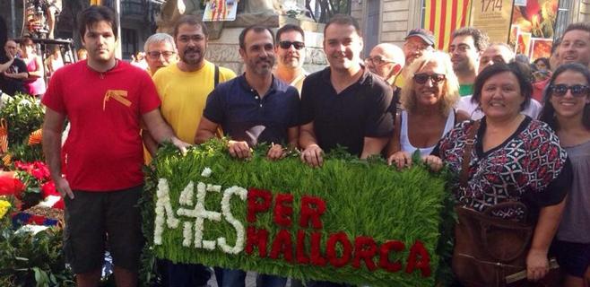 Més per Mallorca, presente en la Diada de Catalunya