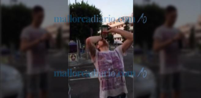 Se desploma tras beber una botella de golpe en Santa Ponça