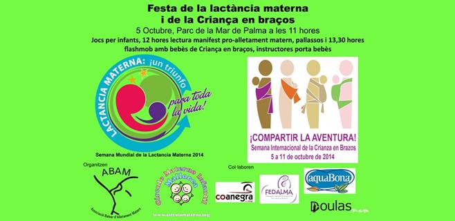 Abam celebra la Fiesta de la lactancia materna en el Parc de la Mar