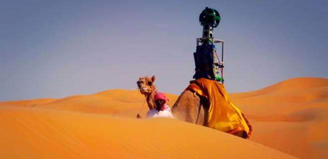 Google Street View atraviesa el desierto de Liwa en camello
