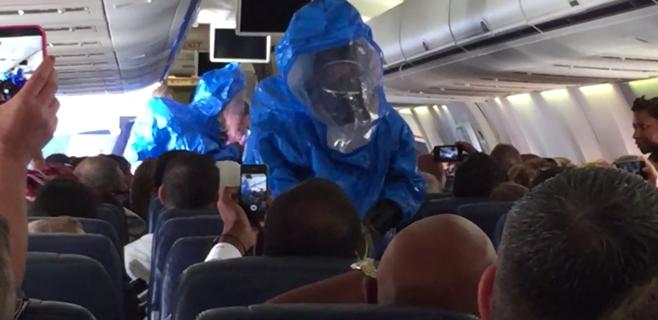 Pánico en un avión: