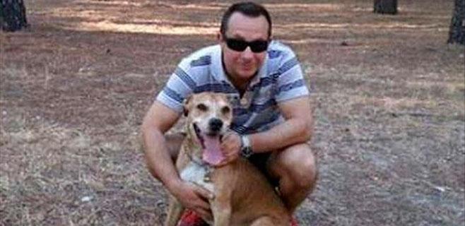 Javier Limón le promete a su perro Excálibur