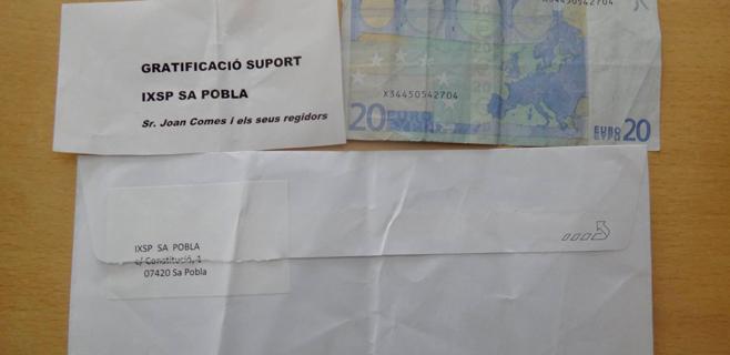 Independents per Sa Pobla denuncia el envío de sobres con dinero a su nombre